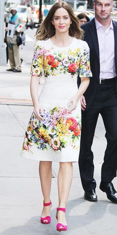 Look of the Day - June 1, 2014 - Emily Blunt in Dolce & Gabbana from #InStyle
