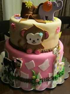 Girl baby shower with jungle theme Safari Baby Shower Cake, Safari Party, Baby Shower Cakes, Baby Shower Themes, Baby Shower Gifts, Shower Ideas, Jungle Cake, Jungle Theme, Nikki Baby