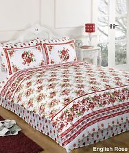 13b5ac83d4d 6PC Duvet Complete Bedding Set Extra Pillowcases & Fitted Sheet - English  Rose