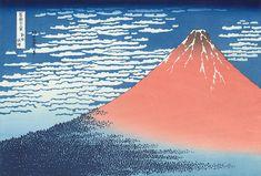 Japanese Ukiyo-e Stylish Case - South Wind, Clear Sky (Gaifu kaisei) Japanese Paper, Japanese Painting, Japanese Prints, Great Wave Off Kanagawa, Katsushika Hokusai, Japanese Landscape, Cityscape Art, Japan Art, Surreal Art