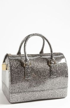 Furla 'Candy Glitter' Rubber Satchel- a whole sparkly handbag?!?  Awesome!  Too bad it's not pink sparkles!!!