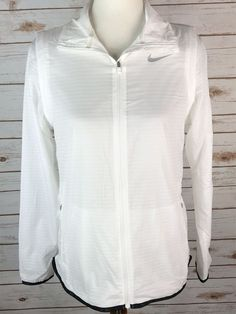 3d2c31f91 Details about Nike Convertible Women s White Golf Jacket Size S Small  725690-100 NWT  130