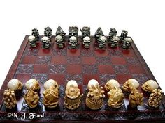 Skull  Chess Set/ Pieces Board Not Included by litttleme1969, £40.00