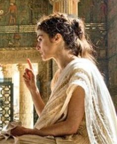 Hypatia, Greek philosopher and mathematician, head of the platonist school in Alexandria. Her murder in 415AD marked the end of classical antiquity