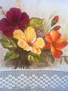 Pano de prato flores
