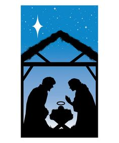 Look at this #zulilyfind! Manger Silhouette Window Poster #zulilyfinds