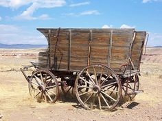 Image of an antique horse-drawn wagon with tall wooden slat sides on display at the Old Trail Town in Cody, Wyoming. Horse Wagon, Horse Drawn Wagon, Horse Tack, Old West, Wooden Wagon, Old Wagons, Into The West, Covered Wagon, The Lone Ranger