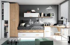 Bedroom Bed Design, Modern Bedroom, Kids Bedroom, Home Office, Bunk Rooms, Teen Girl Rooms, Small Room Design, Aesthetic Bedroom, Boy Room