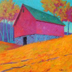 """""""Upland Grove"""" 36 x 36 oil on canvas."""