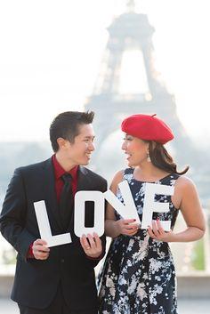Bonjour! From Paris with LOVE! #parisphotographer #parisengagement #eiffeltower www.theparisphotographer.com