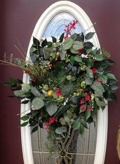 Spring Wreath Summer Wreath Grapevine Door by AnExtraordinaryGift, $85.00