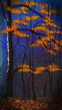 """""""Unfinished Forest"""" Glass Frit Painting by Diane Quarles"""
