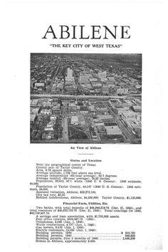 Airview of Abilene - 1946