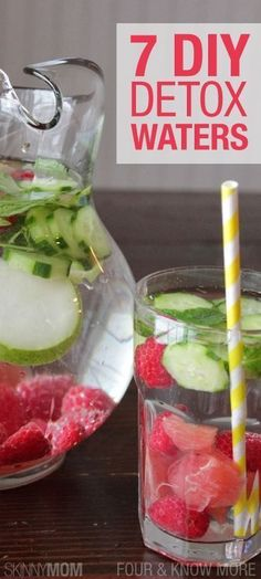 7 Delicious Detox Waters! #detox #diet #healthy