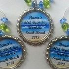 Personalized wine charms, bridal shower favors, birthday favors, wedding wine charms