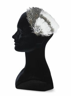 hair accessories with feathers