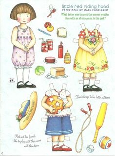 Little Red Riding Hood Mary Engelbreit Magazine Paper Dolls Picnic in The Park | eBay