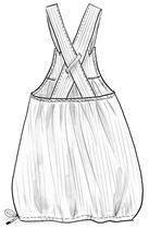 """Olkainhame """"Stripe"""" ekopuuvillaa – Ruusuja ja lehtiä – GUDRUN SJÖDÉN - vaatteita verkossa ja postimyynnissä"""