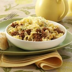 Ground Beef Noodle Bake    http://princesscooking.blogspot.com/2012/02/ground-beef-noodle-bake.html
