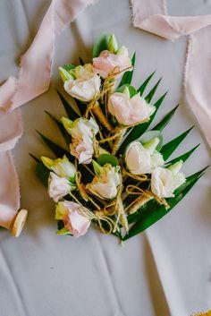 Blush pink boutonnieres | Lebanese Wedding Athenian Riviera | Elegant Wedding | Luxury Weddings | Greek Island Weddings | Destination Wedding