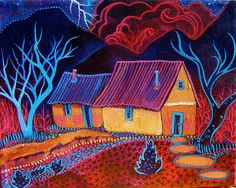 Sailor's Delight by Sally Bartos, New Mexico artist. Her work is available from bartos on Etsy.
