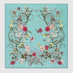 "Gucci, foulard en soie ""Blooming in your garden"""