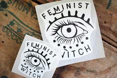 Feminist Witch: evil eye vinyl laptop feminist sticker set