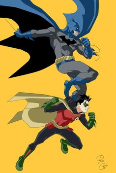 Batman and Robin by phil-cho on DeviantArt Damian and Bruce