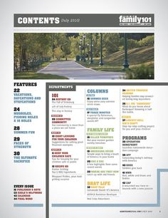 Army Family 101 Magazine (Table of Contents) by dmgatlanta, via Flickr