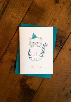 A simple design featuring a quirky grumpy cat illustration. Perfect for birthdays, celebrations and grumpy cat lovers! size A6 (105mm x 148mm when
