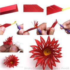 How to Make Unique Quilled Flower tutorial and instruction. Follow us: www.facebook.com/fabartdiy