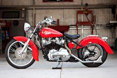 Completely restored Iron Head Harley-Davidson XL Sportster. Benidorm, Spain, España