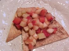 Fresh Fruit Salsa With Cinnamon Sugar Chips. Leftover salsa is great over pancakes or waffles or stirred into yogurt.