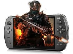 The JXD S7800b Android 4.2 Gaming Tablet looks very much like an oversized version of the PSP. Being a hybrid device, you can enjoy both games that play better with physical buttons as well as traditional touch screen Android games. If you are a fan of classic gaming, just install an emulator on the JXD S7800b Android 4.2 Gaming Tablet, pop in a few of your favorite ROMs and you are in classic gaming haven.
