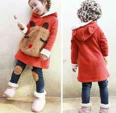 2013 Free shipping Autumn baby clothing set,children hoodies+ pants 2pcs, girls clothing bear sweatshirt plus velvet trousers US $37.45