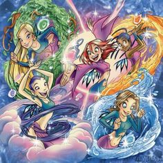 W.H my childhood right there ^ Winx Club, Arte Nerd, Chibi, Childhood Tv Shows, Witch Art, Disney And More, Cartoon Tv, Disney Animation, Magical Girl