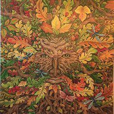 #mythomorphia #kerbyrosanes #greenman #adultcoloringbook #coloredpencil