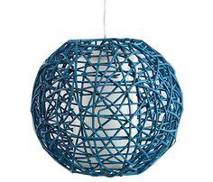 Lámpara de techo Ratán azul