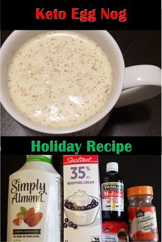 This low carb keto Egg Nog is perfect on a cold winter night! Holiday Drinks, Holiday Recipes, Low Carb Keto, Low Carb Recipes, Italian Pot Roast, Egg Nog, Baking Ingredients, Health And Nutrition, Lchf
