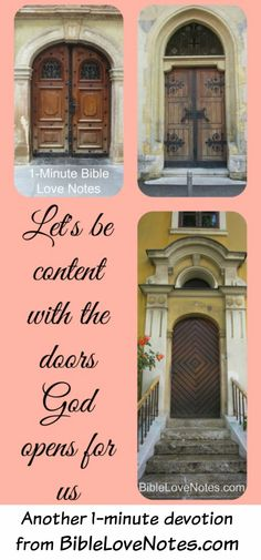 Scripture shows us that Miriam was jealous of her brother Moses' role. Her life is a warning for us to be content with the doors God opens in our lives, and this 1-minute devotion shares some interesting insights.