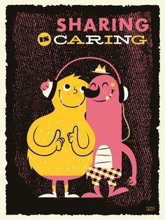 """""""Sharing"""" Art Print by Greg Abbott on Society6."""