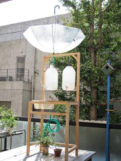 Una manera de recoger el agua de la lluvia.