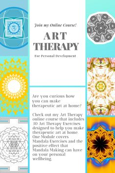 30 Art Therapy Exercises - Join my Art Therapy Online course and learn how to make some therapeutic art at home. Art Therapy Projects, Art Therapy Activities, Art Journal Prompts, Art Journaling, Self Healing Quotes, Art Therapy Directives, Art Articles, Soul Art, Teaching Art