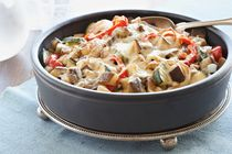 Enjoy a fall-ingredient favorite when you serve our Easy Fall Ratatouille Dish. Much easier to make than it seems, this Easy Fall Ratatouille Dish stars a medley of late-summer veggies, baked to perfection with a melty, cheesy bonus. Kraft Recipes, Kraft Foods, Fall Recipes, Dinner Recipes, Healthy Cooking, Cooking Recipes, Healthy Recipes, Veggie Recipes, Veggie Bake