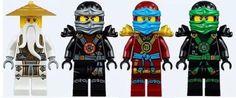 ninjago ghost season: wu, cole, nya and lloyd by SilverEclipse7256