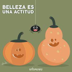 La #belleza es una actitud #frasedeldia #Halloween #calabazas