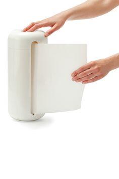 White Paper Towel Holder designed by Karim Rashid on HauteLook