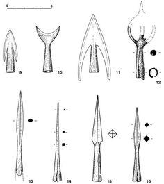 Medieval arrowheads.