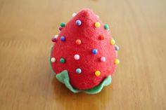Giant Strawberry Pin Cushion by li-sa.deviantart.com on @deviantART