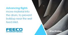 Advancing flights move material into the drum, to prevent buildup near the wet feed inlet. #facts #factfriday #rotarydrum #rotarydrumdryer #rotarydryer